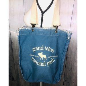 Grand Teton National Park Canvas Tote Bag Boho